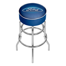 Ford Oval Padded Swivel Bar Stool