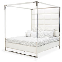 AICO State St. Metal Canopy Bed, Queen