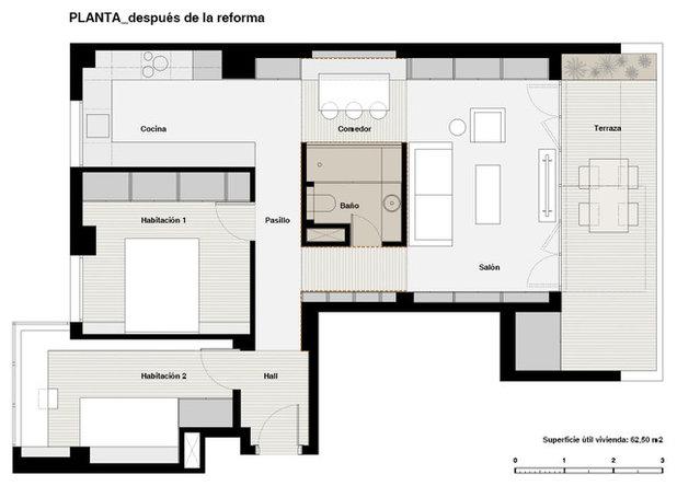 Plano de planta Ático en Madrid