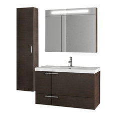 "39"" Wenge Bathroom Vanity Set"