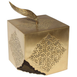 Eves Candle Holder, Matte Brass