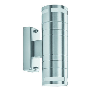 Outdoor and Porch 2-Light Up and Downlight Wall Bracket, Stainless Steel