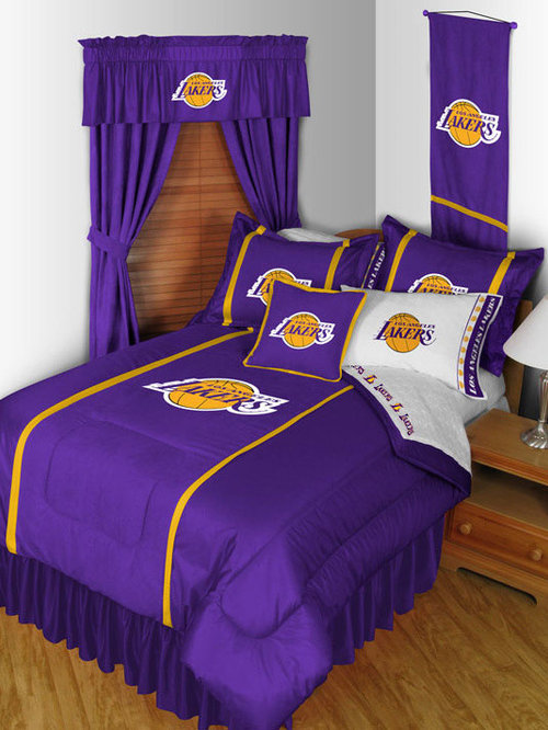 Attrayant NBA Los Angeles Lakers Bedding And Room Decorations