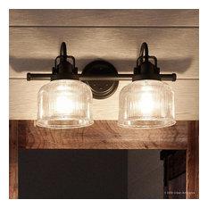 Luxury Industrial Bath Vanity Light, Harlow Series, Fashion Bronze
