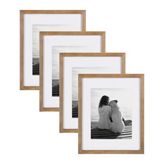 """Gallery Wood Picture Frame, Set of 4, Rustic Brown, 11""""x14"""""""