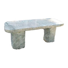 Stone Age Creations Ocean Surf Polished Jade Stone Boulder Bench