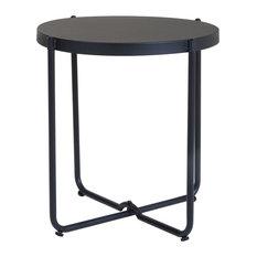 Charles Bentley Steel Side Table, Black