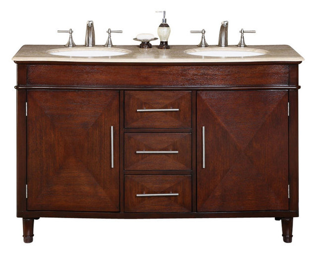 Cambridge 55 In. Double Sink Bathroom Vanity Cabinet