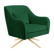 Paloma Green Velvet Accent Chair, Green