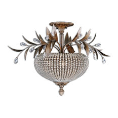 3 Light Semi Flush Mount Ceiling Light Fixture