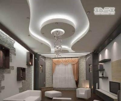 New POP False Ceiling Designs 2018, POP Roof Design For Living Room Hall