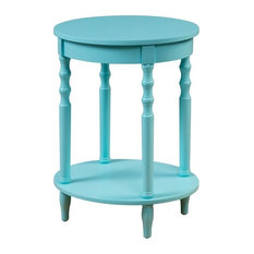 Convenience Concepts Classic Accents Brandi Oval End Table in Green Wood