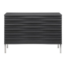 Wave 3 Drawer Chest, Charcoal