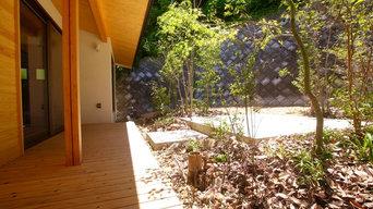 静岡市外構・雑木の庭|高低差のある敷地形状の外構デザイン