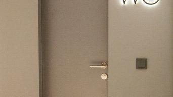 Скрытые двери с подсветкой