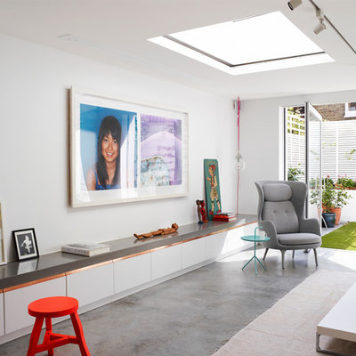Inspiration for a mid-sized contemporary home design remodel in London