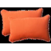 Sundeck Orange Rectangle Throw Pillow, Set of 2