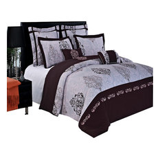 Gizelle 100% Cotton Embroidered 7-Piece Duvet Cover Set, King/Cal King