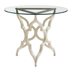 "Tommy Bahama Misty Garden 36"" Round Breakfast Table in Ivory-Gold"