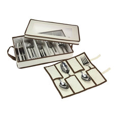 Flatware Chest With Serving Piece Pouch