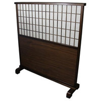 "48.5"" Mahogany Room Partition Divider"