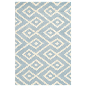 Sloane Hand-Tufted Area Rug, Blue and Ivory, 152x243 cm