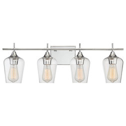 Elegant Industrial Bathroom Vanity Lighting by Littman Bros Lighting