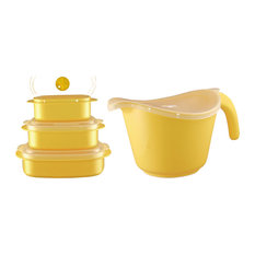 Calypso Basics Microwavable Cookware Set, Lemon
