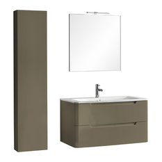 Palma 4-Piece Bathroom Vanity Set, Dove Grey, 96 cm