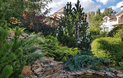 Проект недели: «Итальянский» сад с расписной лоджией при гараже