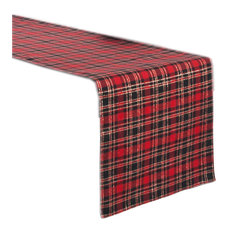 Fennco Styles   Highland Holiday Red And Black Plaid Table Runner   Table  Runners