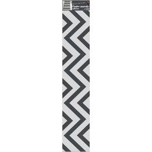 Chevron Wall Panels, Black, 20x100 cm, Set of 12