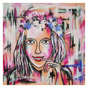 """Jonna"" Acrylic Painting, 100x100 cm"