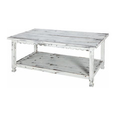 Country Cottage 42 L Coffee Table White Antique