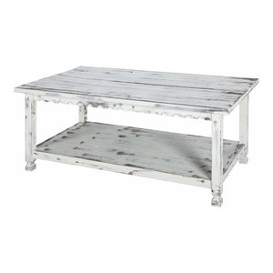 Country Cottage Coffee Table White Antique