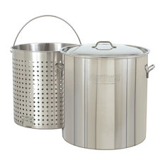 82 Quart Stainless Stockpot With Basket