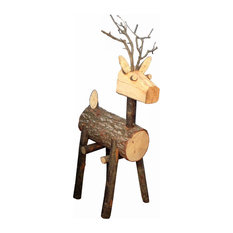 ARTESANIA SAN JOSE, S.A.U. - Natural Festive Deer Figurine - Holiday Accents and Figurines