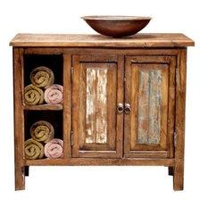 "Havana Rustic Vanity With Storage, 36""x22""x36"", Single Sink"