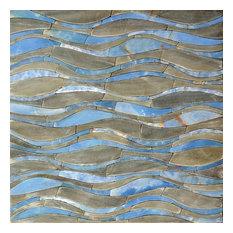 "Mozaico - Waves Petal Mosaic Design, 47""x47"" - Tile Murals"