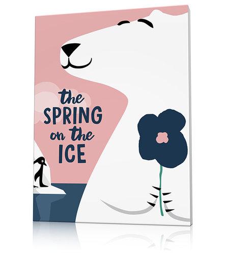 Tableau ours polaire déco chambre enfant - Accessoire Déco Enfant