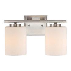 Chloe 2 Light Bathroom Vanity Light in Satin Nickel