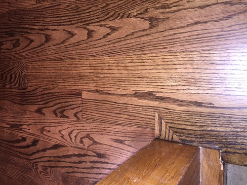 Oak Flooring Question Odd Install At The Stair Nosing Bannister