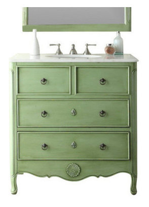 34 Quot Daleville Shabby Chic Bathroom Vanity Contemporary