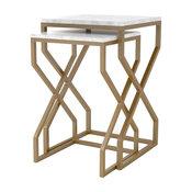 Denni Nesting Tables, Matte Brass