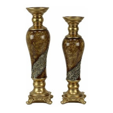 Torina Design 2-Piece Hurricane Candlestick Set