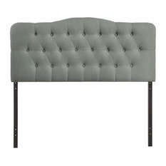 Rosebery Kids Queen Tufted Panel Headboard In Gray