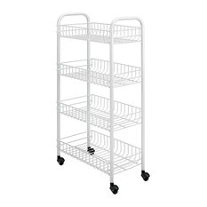 Patented Rolling Cart, 4-Tier