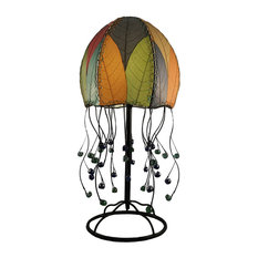Eangee Home Designs Jellyfish Fossilized Cocoa Leaves Multicolor Table Lamp