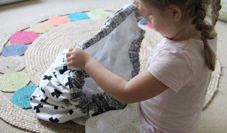 DIY : Un sac à jouets transformable en tapis de jeu