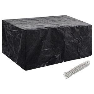 VidaXL Garden Furniture Cover, 6 Person Poly Rattan Set 10-Eyelet, 240x140 cm
